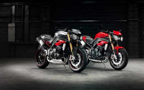triple, triumph, скорость, мотоцикл, мотоциклы,