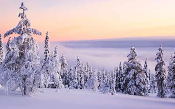 resimleri, manzara, doğa, ni, nieve, invierno, paisaje, papel,