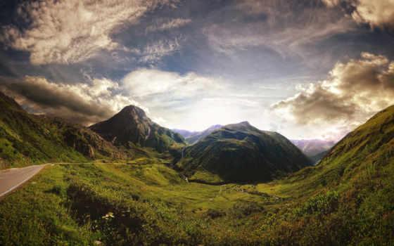 природа, горам, дорога, пейзажи -, горы, природы, разных, разрешениях, страница,