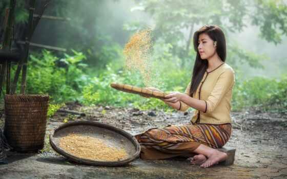 культура, thai, tradiciya, water, adult, девушка, rural, красивый, таиланд, chiang, customs