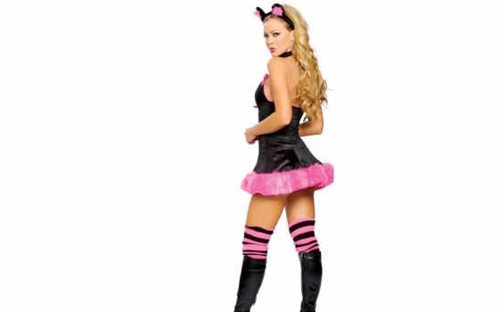 костюмы, розовая, пантера