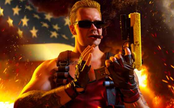 fictional, характер, герой, russian, dark, duke, nukem