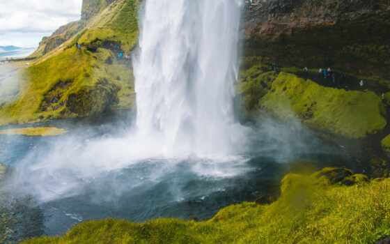 pantalla, movimiento, водопад, paisaje, con, gratis, one, many, фон, great