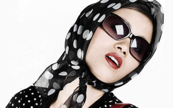девушка, очки
