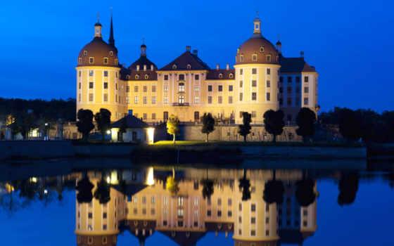 germany, saxony, schloss, moritzburg, photos, buildings, water,
