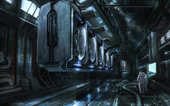 spaceship, inside, фон, futuristic,