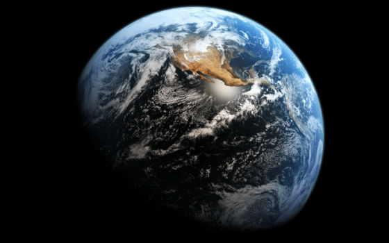 земля вид из космоса облока
