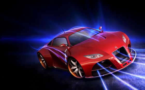 car, красная, машина