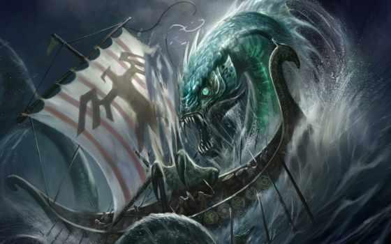 fantasy, морские, чудовища, targete, американский, рисунках, отличается, скетчах, universe, жанре,
