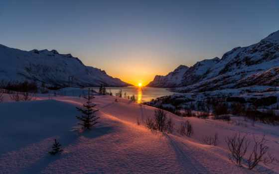 ersfjordbotn, норвегия, закат, john, hemmingsen, взгляд, вечер,