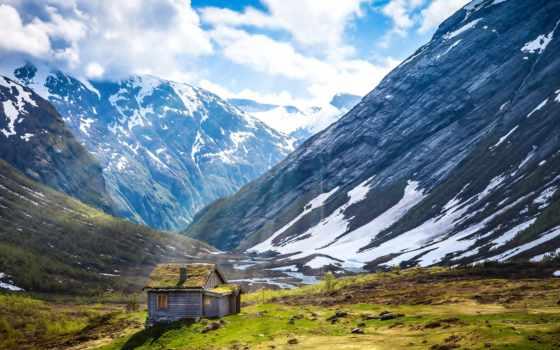 горы, foot, трава, кавказские, природа, свет, landscape, долина, iceland, поле, ферма,