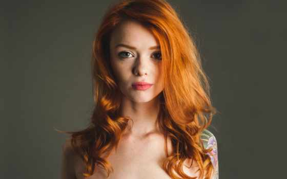 девушка, модель, red, kennedy, взгляд, julie, redhead