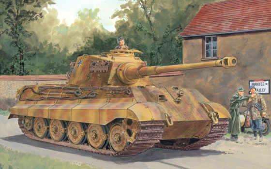 тигр, королевский, танк