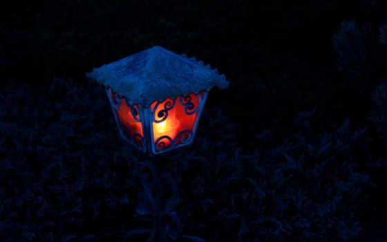 lantern, свет, ночь