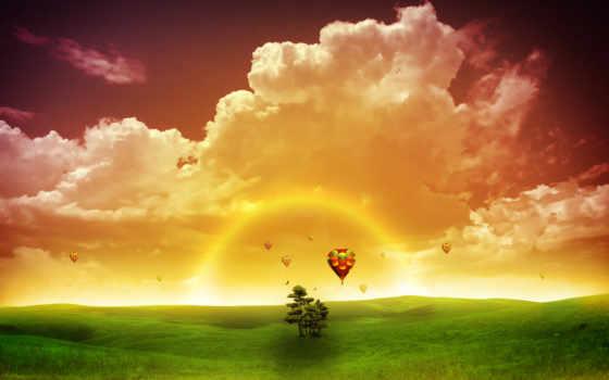 шары, воздушные, утро, abbey, whitby, sveta, нал, поле, об, красивое,