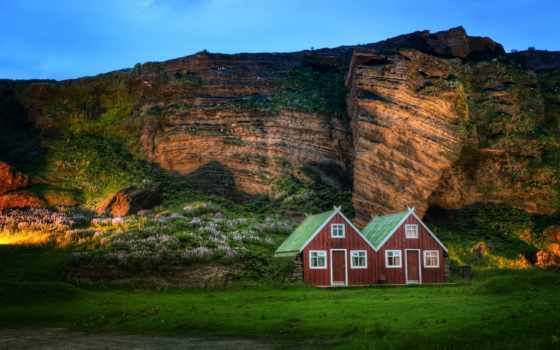iceland, church, vik, крышей, африка, домика, бесплатные, myrdal, photograph,