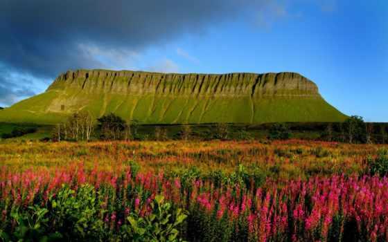 ирландии, бен, гора, балбен, слайго, графстве, ирландский, горы, северо, гор,