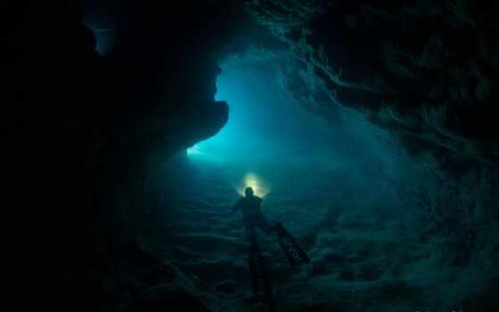 пещера, море, волна, оазис, ан, cliff, форма, action, также, dive, риф