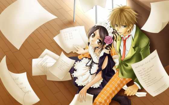 anime, девушка, парень