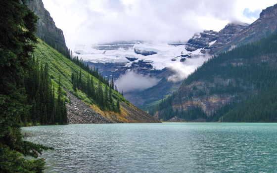 природа, страница, легендарный, зеленой, горы,