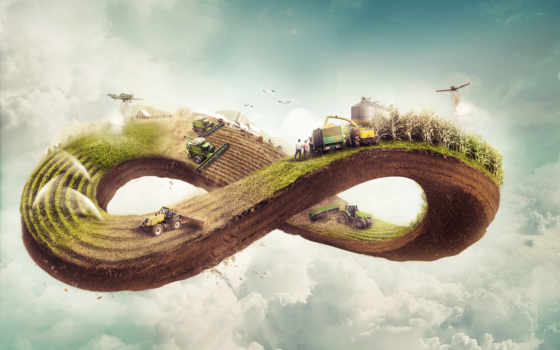 agricultura, бесконечность, ciclo, para, farming, pantalla,