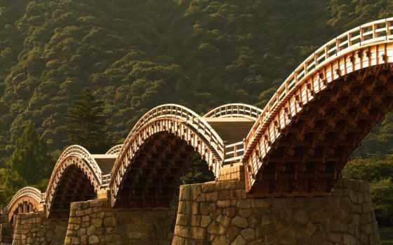 мост, iwakuni,