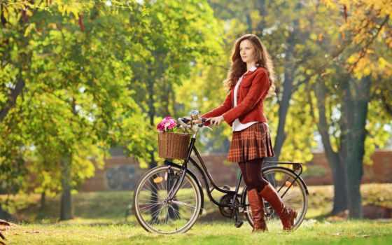 велосипедом, фотосессия, стоковое, bike, женский, яndex, devushki,