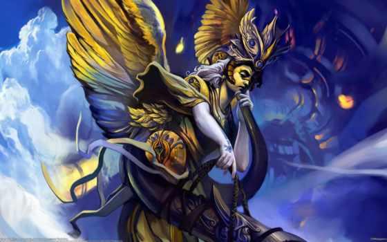 крылья, angel, chen, wei, ангелы, рогатый, девушка, фэнтези,