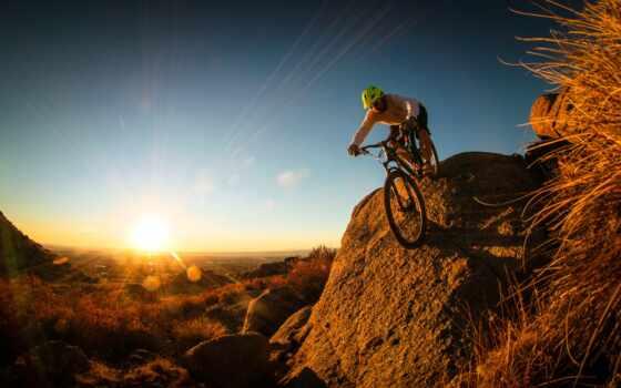 гора, bike, взгляд