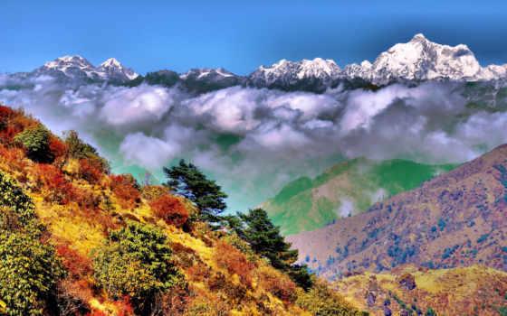 гималаи, india, бенгальский, западная, сингалила, индии, горы,