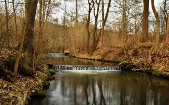весна, река, природа