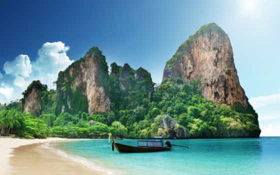 пляж, thai, railay