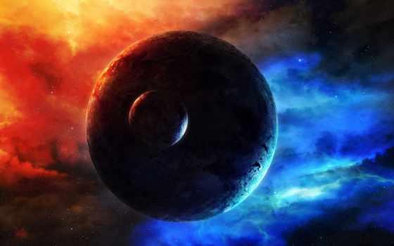 cosmos, планеты, planet, звезды, свечение, nebula, смотреть, спутник, art,