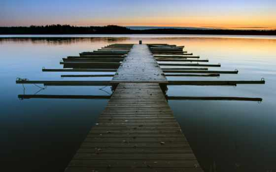 причал, озеро, water, пейзажи -, фотообои, article, категории, закат,