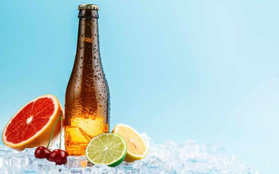пиво, бутылка, glass, плод, браун, cider, craft
