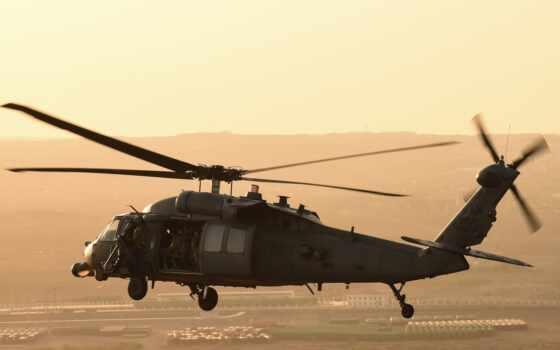 black, sikorsky, hawk, вертолет, американский, multus, purpose, сила, air, военный, самолёт