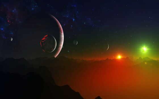 космос, красивый, cosmic, planet, хороший, narrow, star, shirokoformatnyi, galaxy