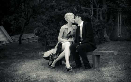 пара, поцелуй, любовь, лавочка, когда, целуется, называл, меня, обою, дать, картинка,