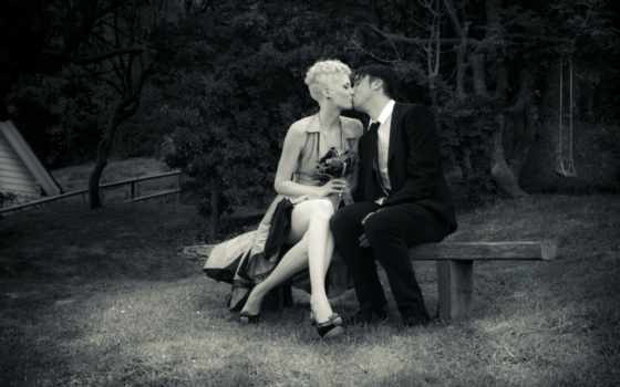 пара, поцелуй