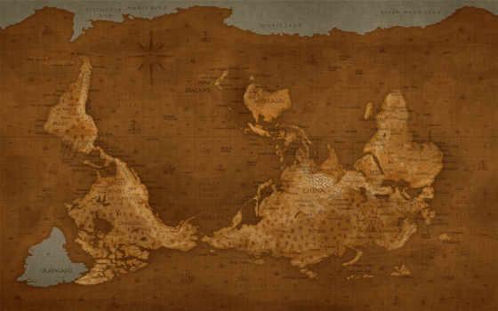карта, перевернутый