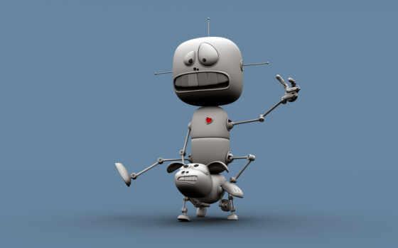 iphone, телефон, роботы, забавные, размером, голубой, абстрактная, guy, dog, точек, картинка, верхом, дизайн, robots, бенни, робот,
