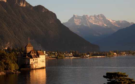 switzerland, chillon, midi