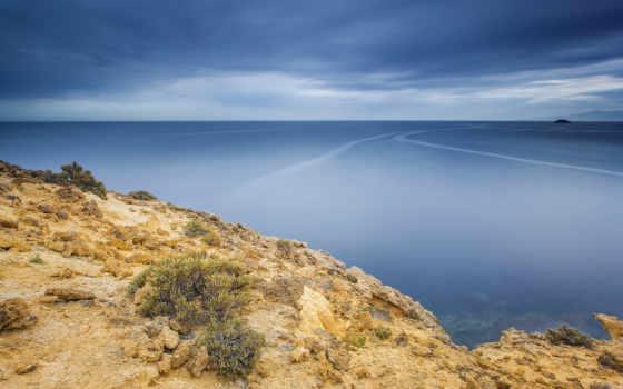 break, море, горизонт