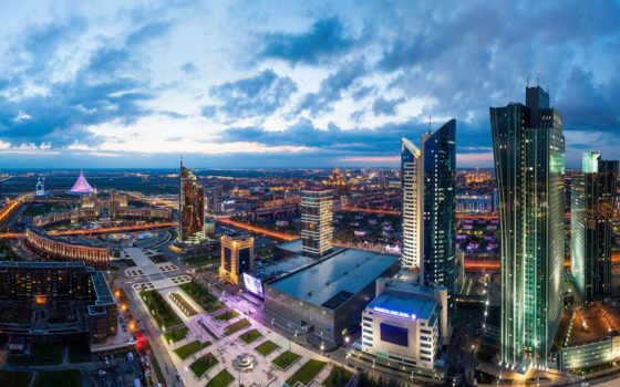 astana, панорама, kazakhstan, города,
