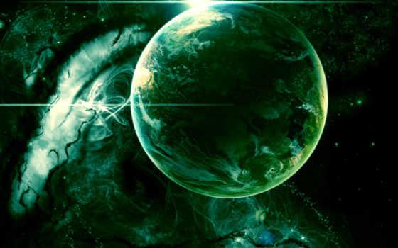 planet, зелёная, cosmos