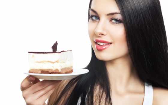 торт, brunette, девушка, piece, блюдце, white, pressfoto,