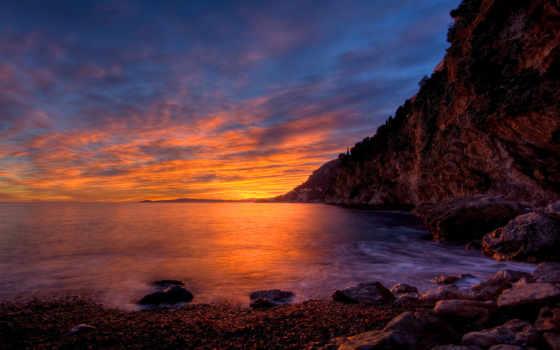небо, закат, море, photography, пляж, побережье, природа,