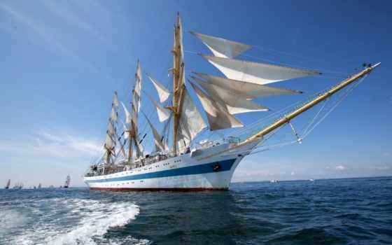 кораблей, парусных, корабли, корабль, парусников, модели, море, паруса,