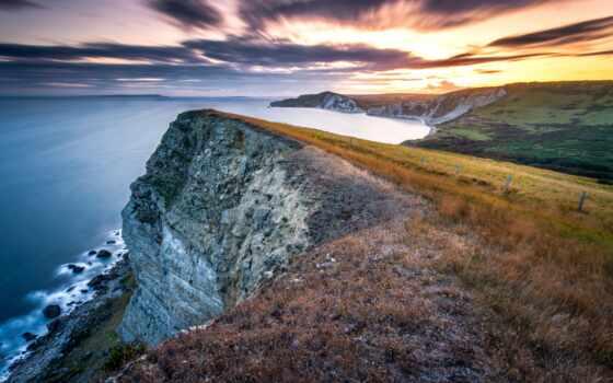 море, ocean, картинка, побережье, природа, dorset, rock, англия, exposure, long, cliff