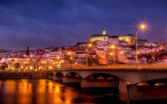 город, ночь, мост